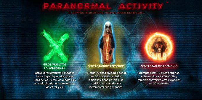 Tragamonedas Paranormal Activity 2020
